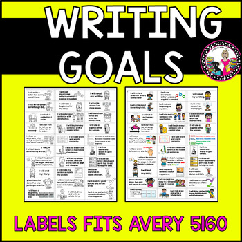 Goal Setting Labels for K-1 Writers COMBO Narrative Writing