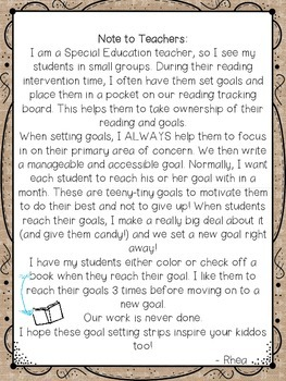 Goal Setting for Small Groups and Reading Intervention