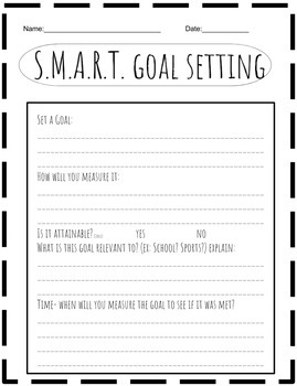 Goal Setting for THIS or NEXT School Year