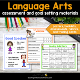 Language Arts Goal Setting - Assessment and Goal Setting Sheets For Students