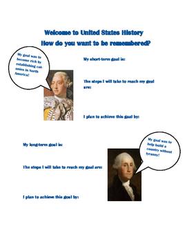 Goal Setting in U.S. History
