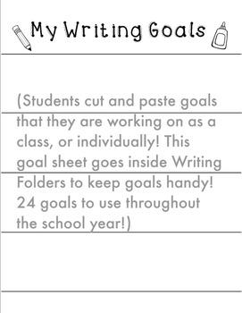 Goal Setting in Writer's Workshop