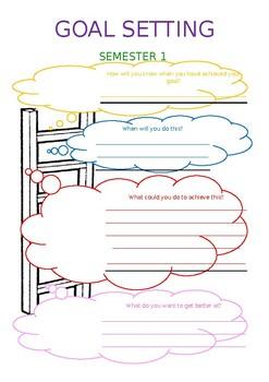 Goal Setting sheet ladder