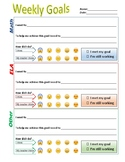 Goal Setting - weekly student goals - personalized learning