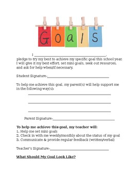 Extras: Goal Setting with Kids!