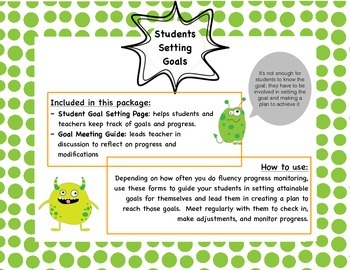 Goal Setting with Students (Fluency and Retell)
