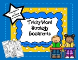 Goal Setting with Tricky Word Strategy Bookmarks
