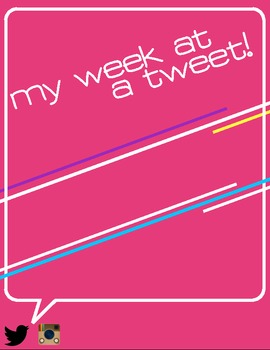 Goal Setting/Weekly Tasks with Paper Twitter - My Week at a Tweet