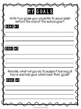 Goal Sheet for Conferences