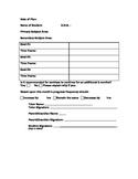 Goal Sheet for Tutoring or After School Program