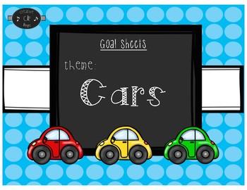 Goal Sheets-Cars Theme