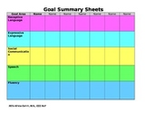 Goal Summary Sheet at a Glance