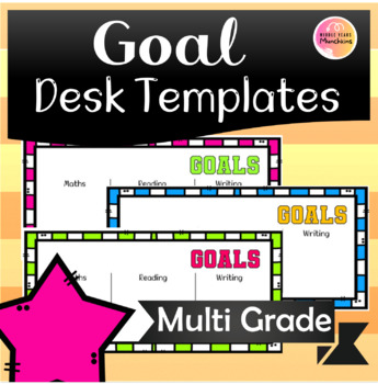 Goal Templates for Desks (double up as Desk Name tags!)
