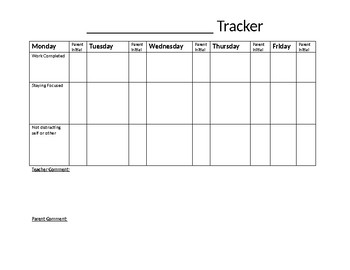 Goal Tracking Form
