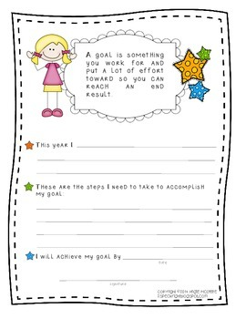 Goal Writing for Students Freebie