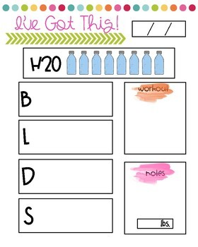 Goal Cards and Weight Loss Tracker! by Heather Huffman | TpT