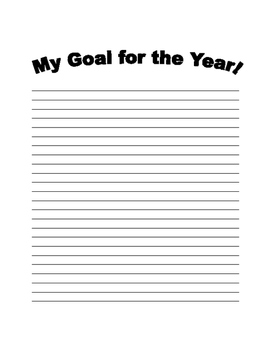 Goal for the Year