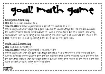 Goal! math game