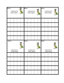 Goal monitoring -Positive reinforcement chart