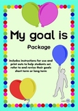 SMART Goal setting Balloons - Students hang in air- Aims,