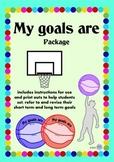 Goal setting Basketball Printables - Shooting Long Term & Short Term Goals