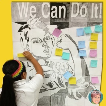 Goal Setting with Rosie The Riveter - Great Growth Mindset Poster