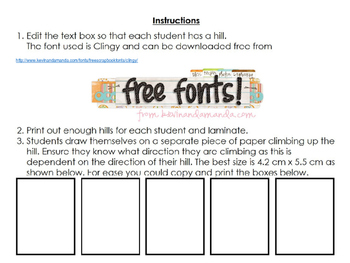 Goal setting activity for students (editable)