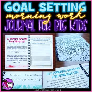 New Years Activities Resolutions Goal Setting Journal Morning Work