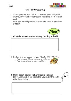 Goal setting/ well being activity LD/Mental health