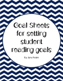 Goal sheets for Independent Reading goals