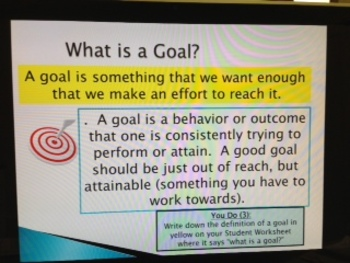 GoalSetting Power Point, Matching Activity and GoalSetting Template