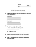 Goals Assessment Sheet