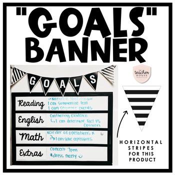 Goals Pennant Banner