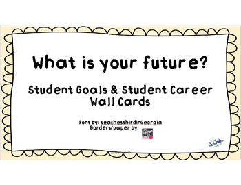 Student Goals & Career Dreams Wall Cards