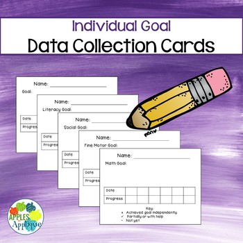Goal Data Collection Cards for IEP or Progress Monitoring