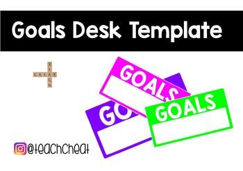 Goals Desk Template