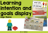 Learning Intentions and Goals Display - Lego theme - Editable