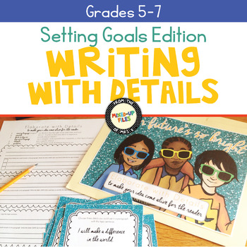 Setting Goals Writing Task Cards