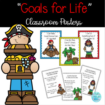 B.I.S.T. Goals For Life Posters - Pirate Themed