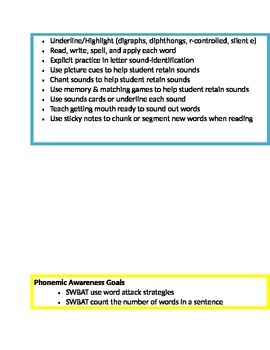 Goals & Interventions Cards (EDITABLE)