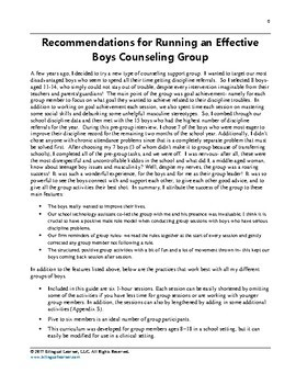 Goals Make the Man: Small Group Counseling Guide for Boys
