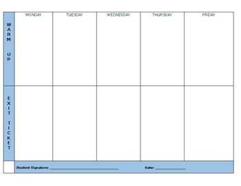 Goals, Objectives, Agenda and Reflection Template