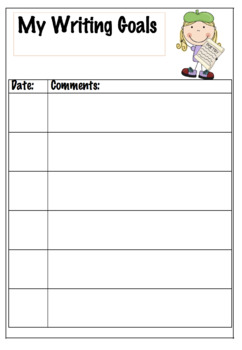 Goals Record Sheet