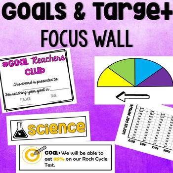 Goals & Target Data Focus Wall: Track Our Success