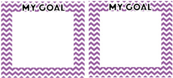 Goals Table Label - EDITABLE - 7 Colours Available