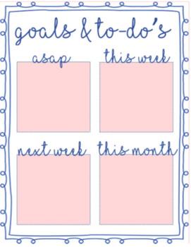 Goals & To-Do Sign