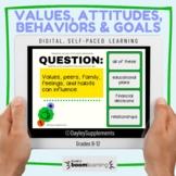 Goals, Values, Behavior, Attitudes, Interactive Boom Cards