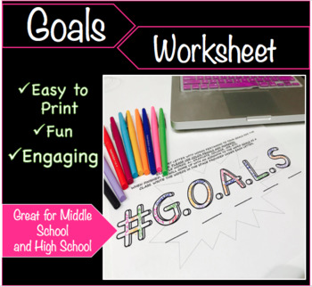 Goals Worksheet - End of Year or Beginning of Year