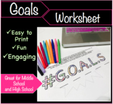 Goals Worksheet - Back to School/Beginning of Year