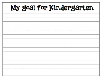 Goals Writing Craftivity (with Editable Version)